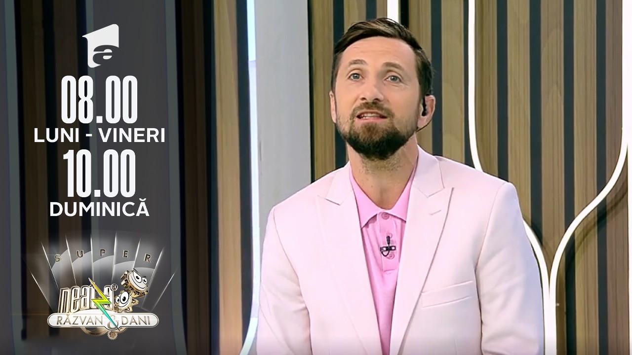 """Super Neatza, 14 octombrie 2021. Dani vrea să afle un adevăr anatomic despre bebeluși: """"Îmi dă un jet până în barbă.."""""""