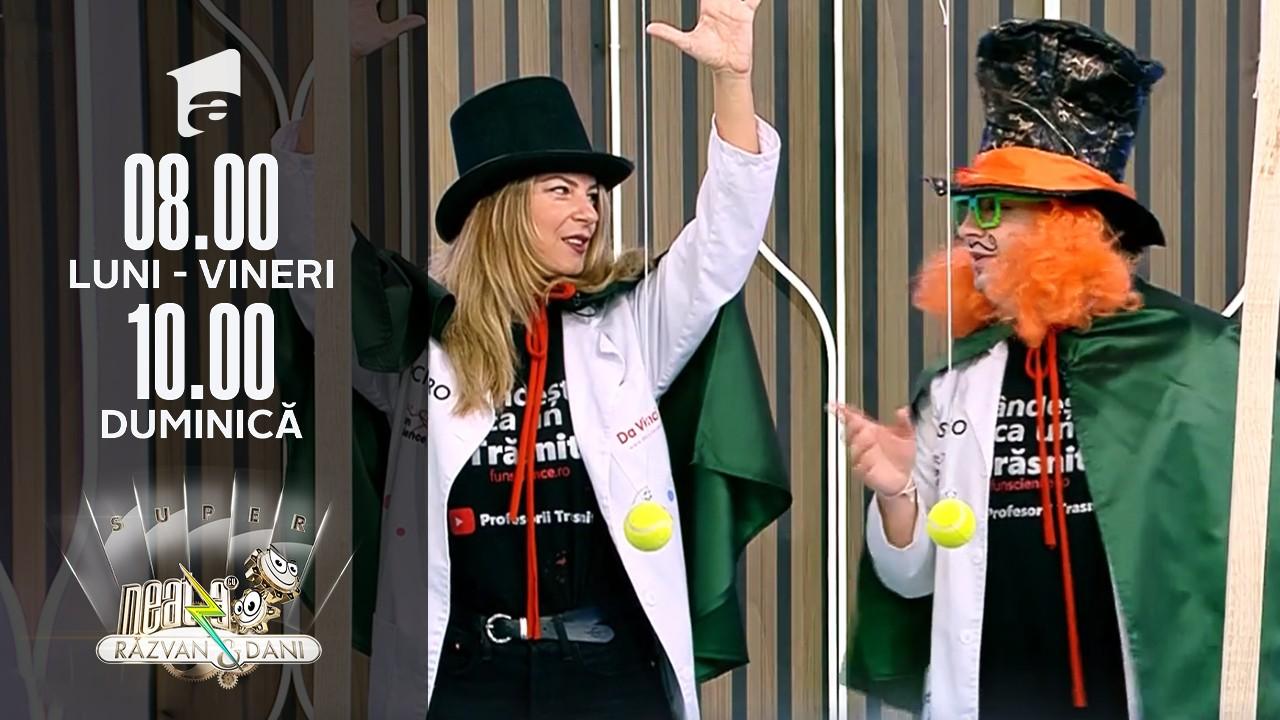 Super Neatza, 15 octombrie. Profesorii Trăsniți nu se dezmint! Un nou super experiment!
