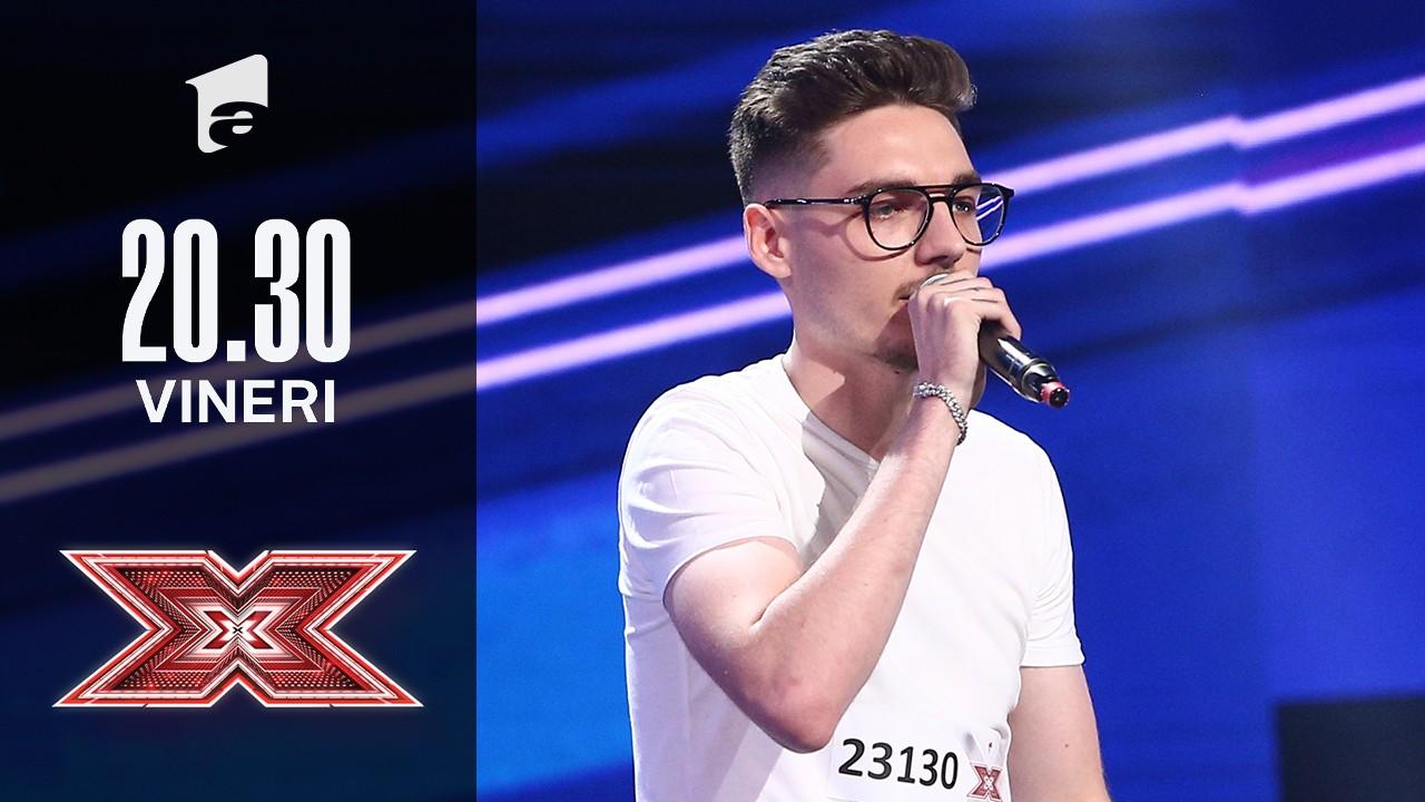 X Factor sezonul 10, 15 octombrie 2021. Costin Alexandru Popovici a cântat o melodie compusă de el