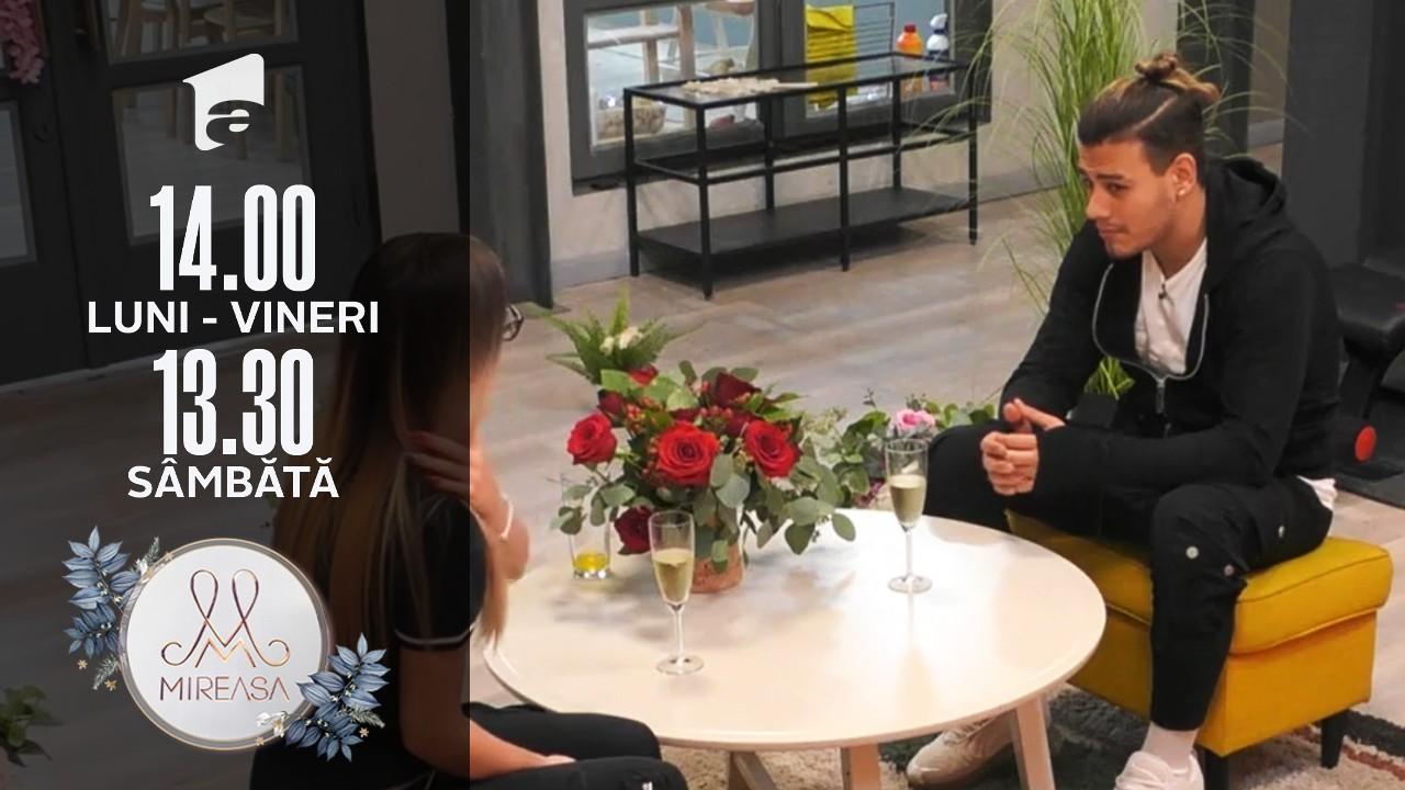 """Mireasa Sezonul 4, 15 octombrie 2021. Alina, în rolul lui Cupidon! Întâlnire """"aranjată"""" între Sebi și Adelina!"""