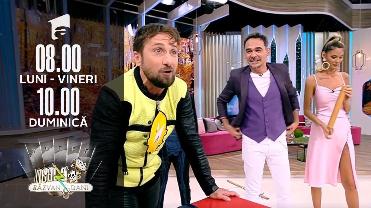 Super Neatza, 15 octombrie 2021. Dani Oțil a devenit sosia magicianului Robert Tudor!