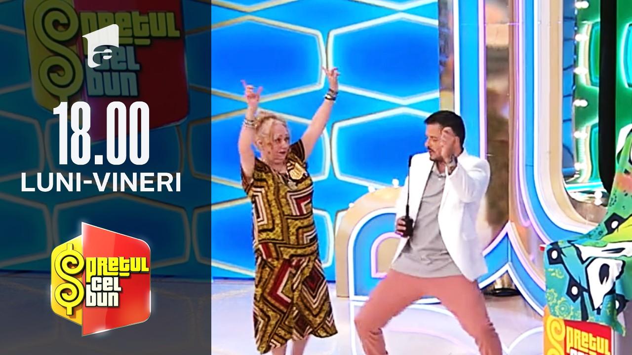 Preţul cel bun sezonul 1, 18 octombrie 2021. Liviu Vârciu învață să facă striptease de la o concurentă de 60 de ani