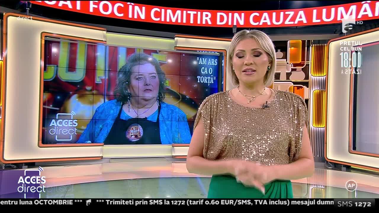 Acces Direct, 18 octombrie 2021. Actrița Doina Ghițescu a ars ca o torță în cimitir