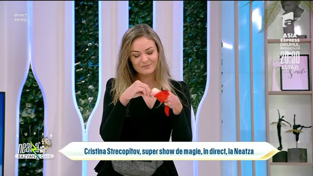 Super Neatza, 20 octombrie 2021. Cristina Strecopîtov, super show de magie