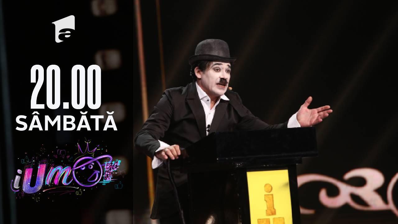 iUmor Sezonul 11, 23 octombrie 2021. Charlie Chaplin, un număr de roast despre mai multe vedete din România
