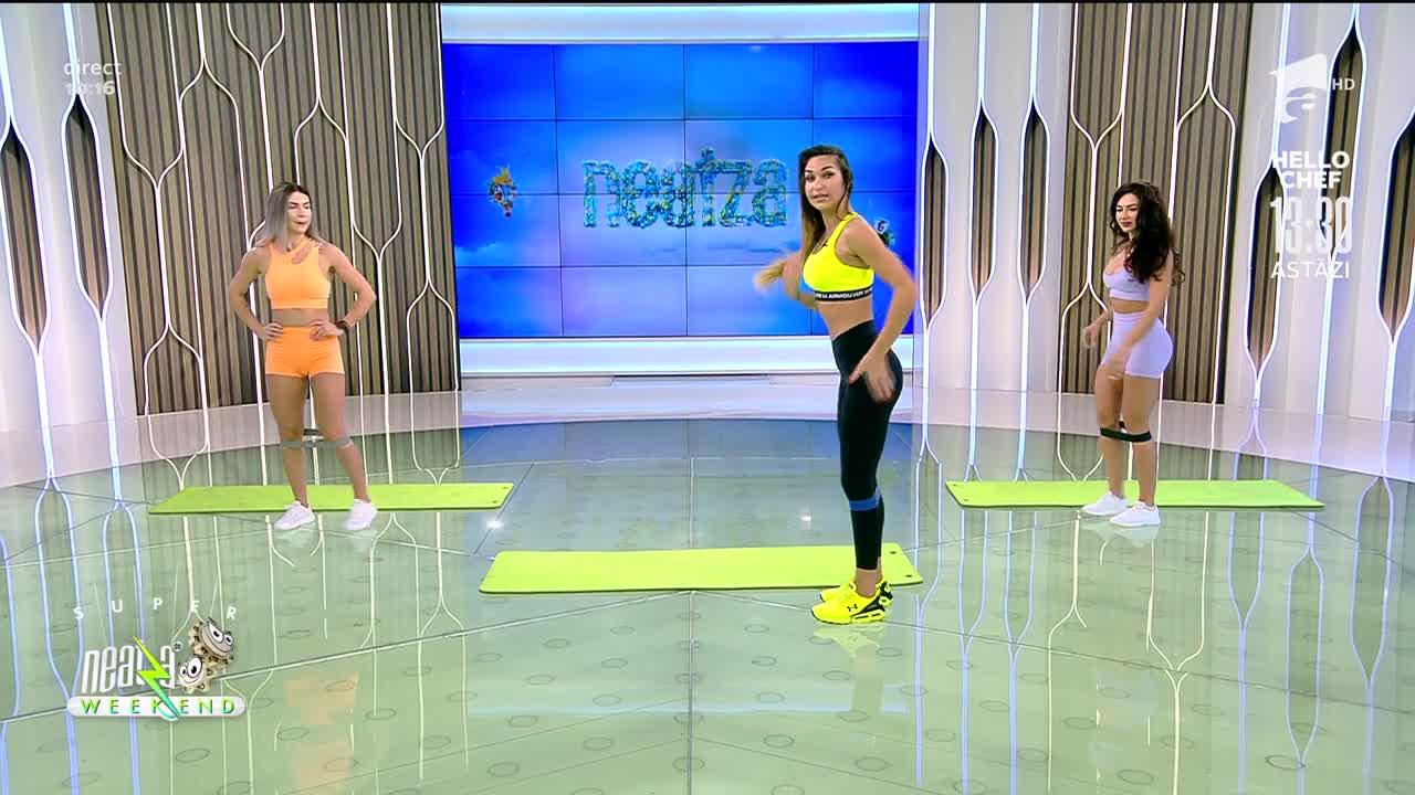 Neatza de Weekend, 24 octombrie. Fitness cu Diana Stejereanu! Antrenament pentru avansați cu banda elastică