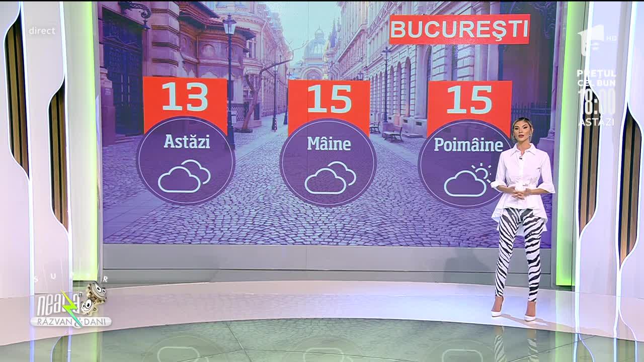 Super Neatza, 26 octombrie 2021. Prognoza Meteo cu Ramona Olaru:  Vremea se răcește brusc. Maximele abia ajung la 16 grade