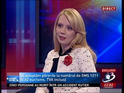 Daciana Sârbu: Nu ma rusinez că sunt sotia premierului