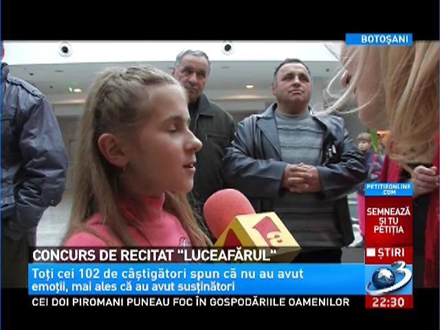 """Concurs de recitat """"Luceafărul"""""""