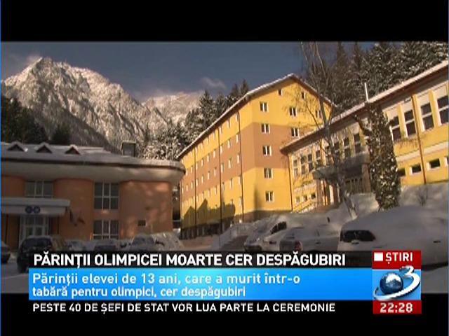 Părinţii olimpicei care a murit anul trecut cer pagube de 1 milion de euro