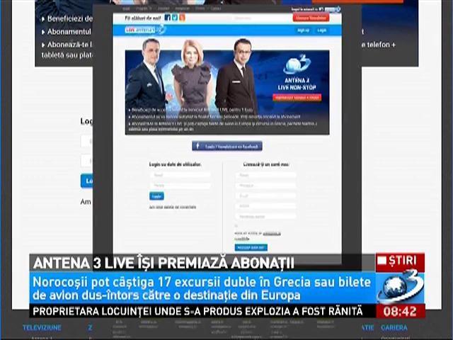 Antena 3 LIVE îşi premiază abonaţii