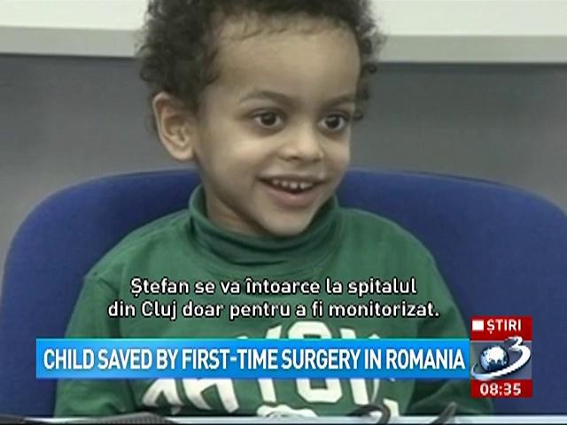 Child saved by first-time surgery in Romania
