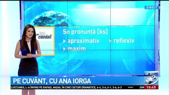 Pe Cuvânt Cu Ana Iorga Cum Se Pronunță Litera X Ks Sau Gz