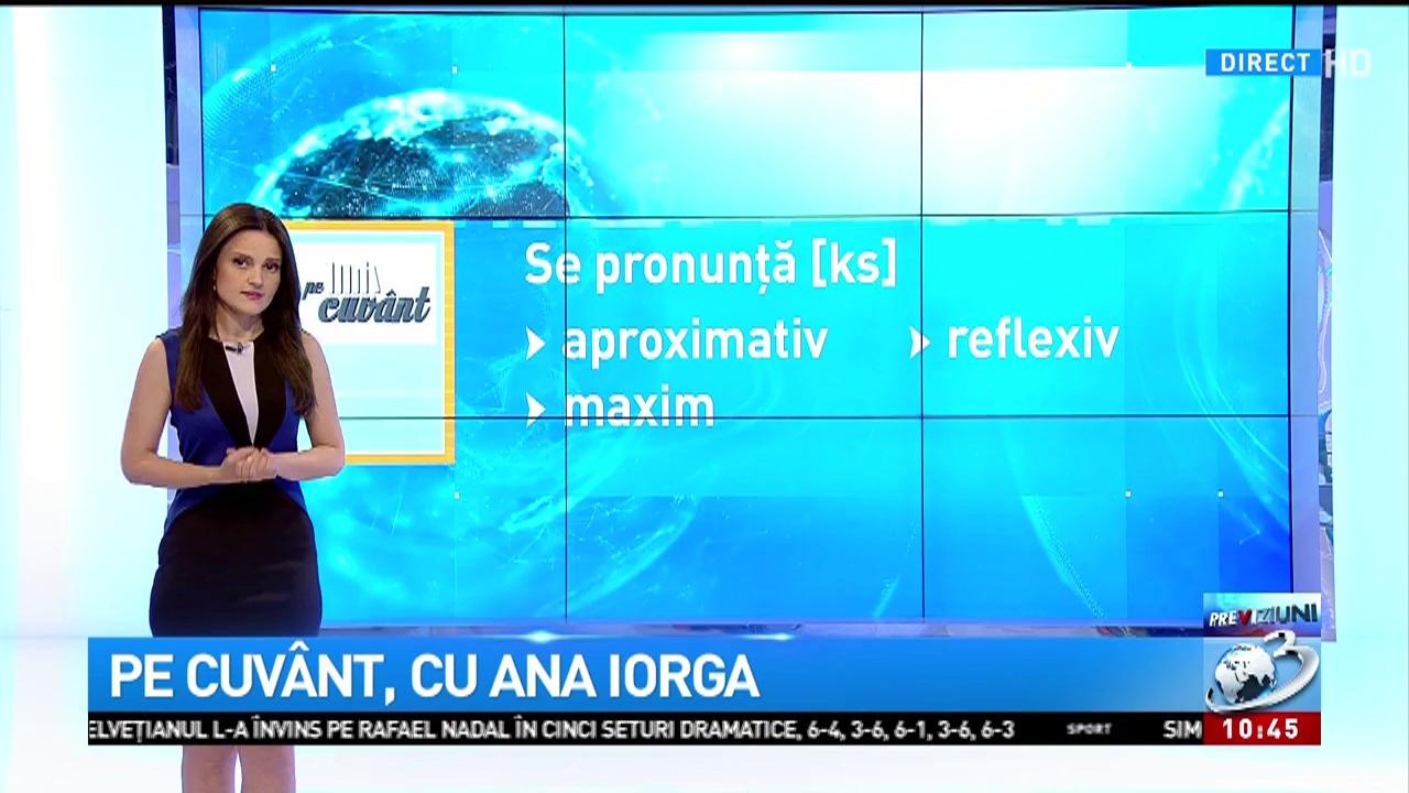Pe Cuvânt Cu Ana Iorga Litera X Când Se Pronunță Ks și Când Gz