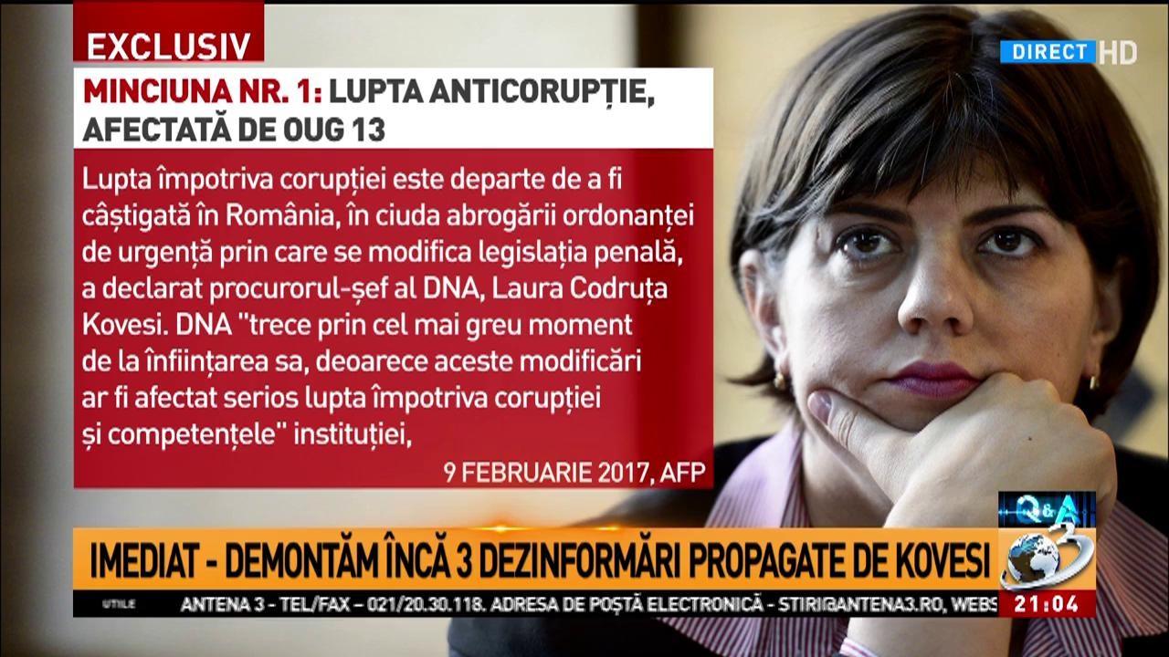 Q&A: Prima afirmație eronată promovată de șefa DNA în presa internațională