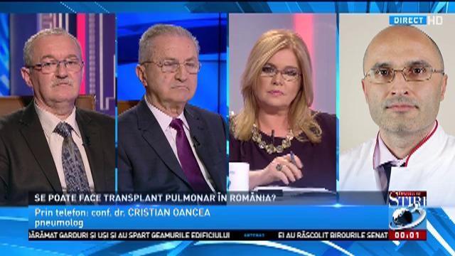 Medicul pneumolog Cristian Oancea, despre transplantul de plămâni în România