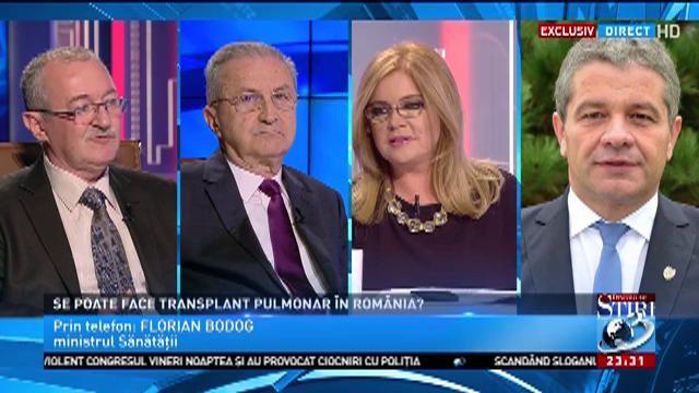 Se poate face transplant pulmonar în România? Ce răspunde ministrul sănătății, Florian Bodog