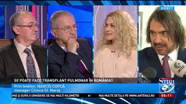 Se poate face transplant pulmonar în România? Managerul Clinicii Sf.Maria, Narcis Copcă