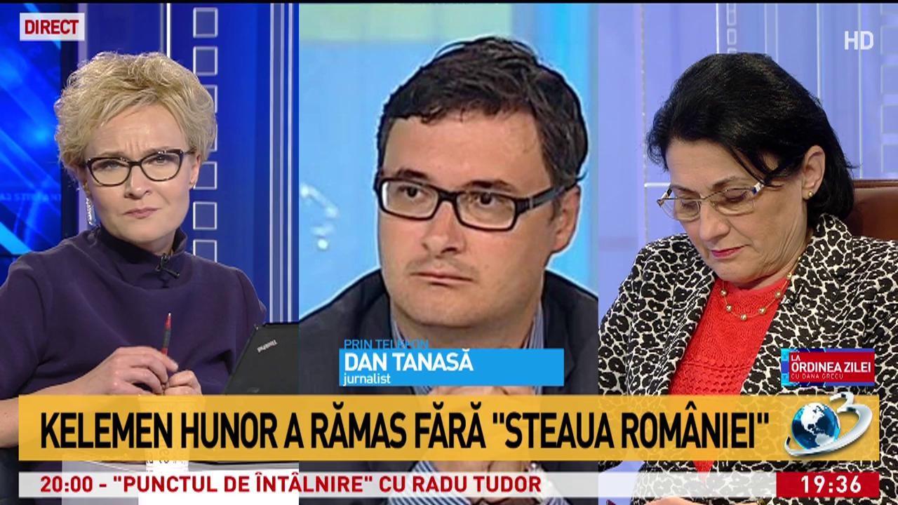 """Dan Tănasă, despre decizia de retragere a ordinului """"Steaua României"""" lui Kelemen Hunor: """"Se face dreptate"""""""