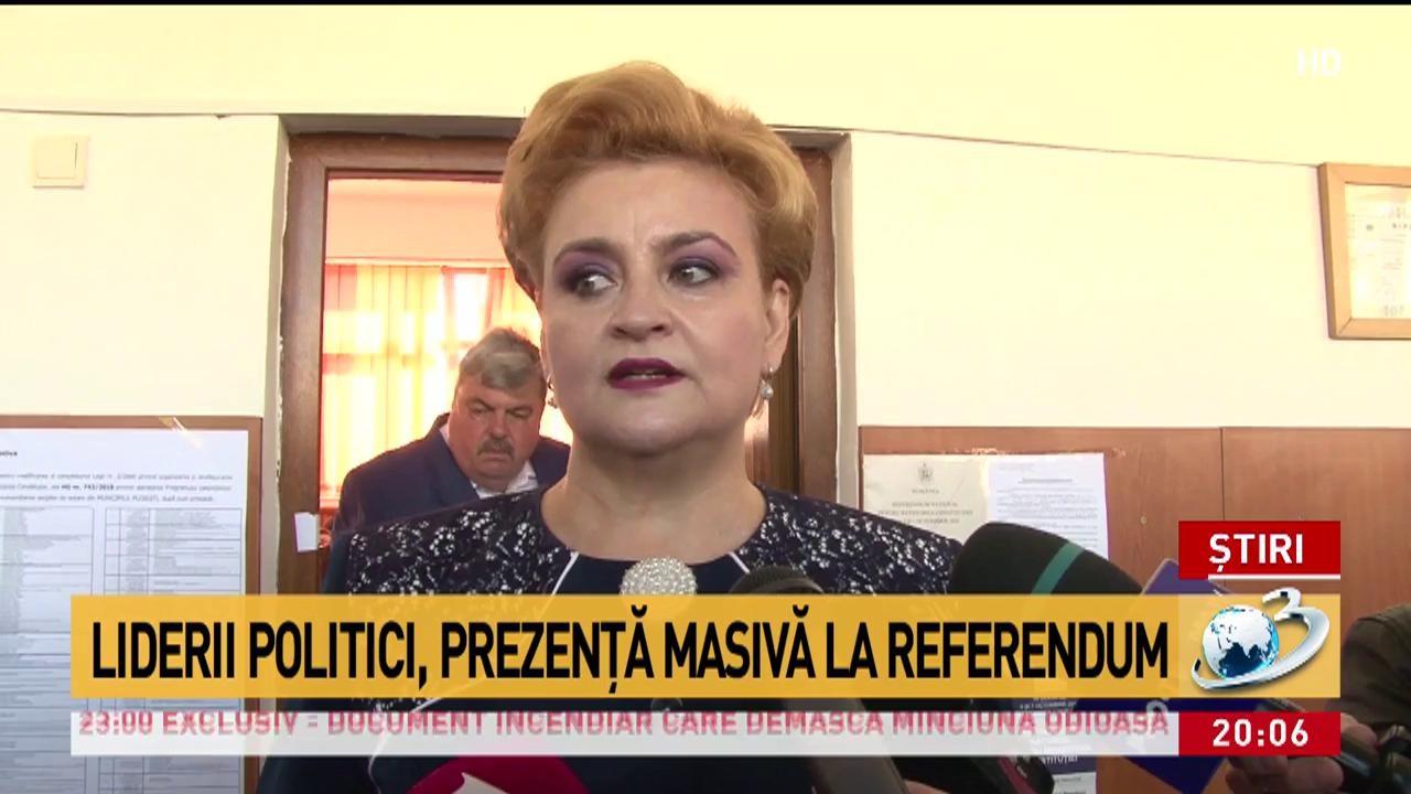 Liderii politici, prezenţă masivă la referendum