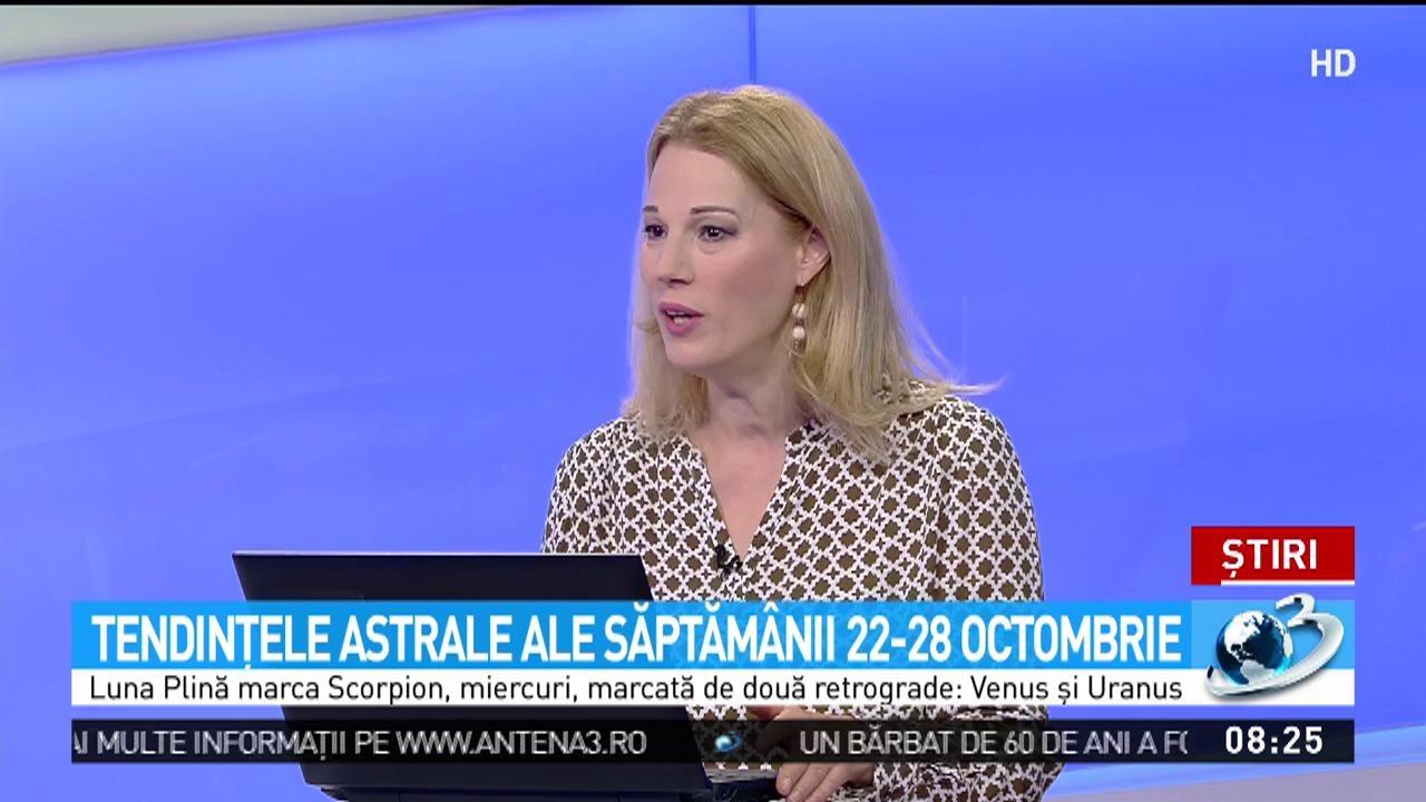 Camelia Pătrășcanu, tendințele astrale ale săptămânii 22-28 octombrie