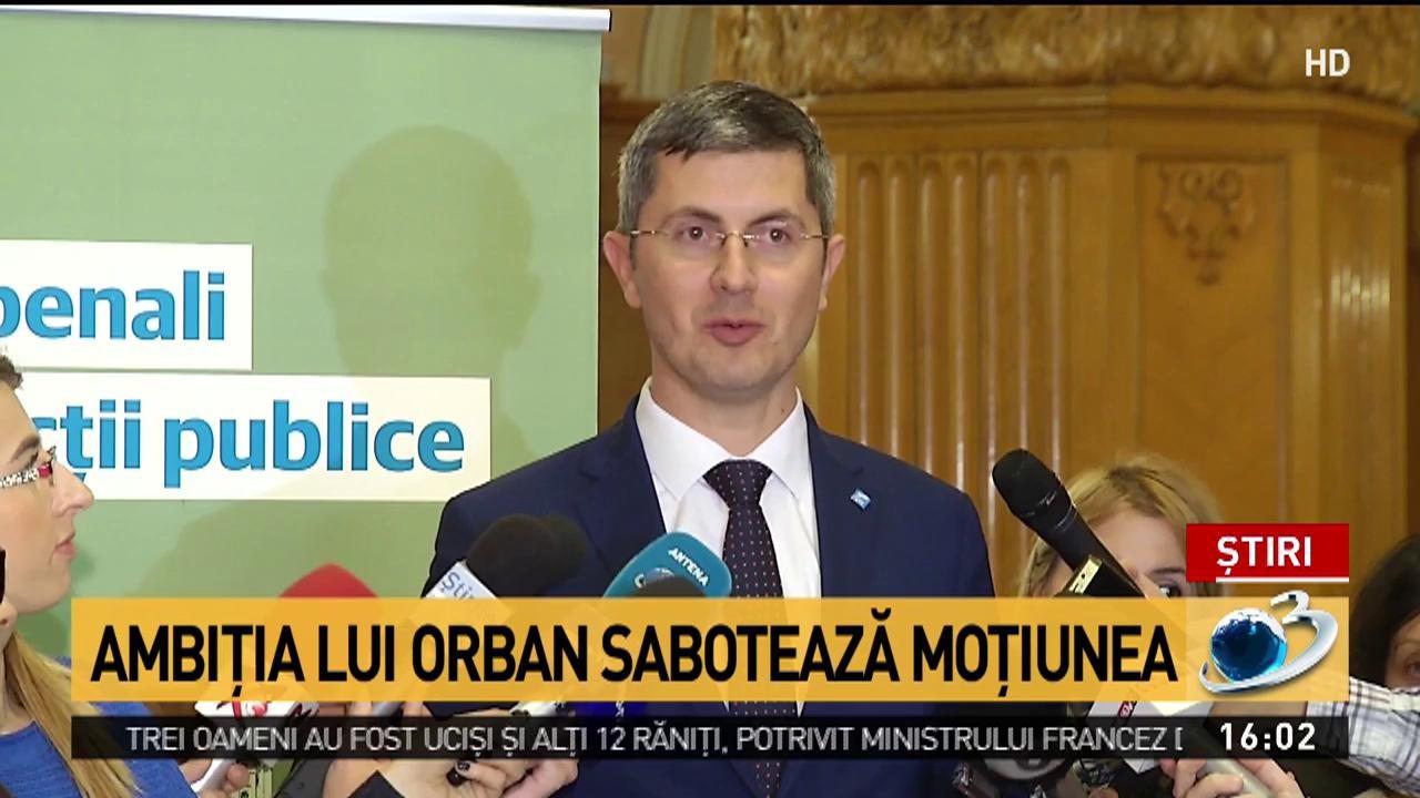 Ambiția lui Orban sabotează moțiunea de cenzură