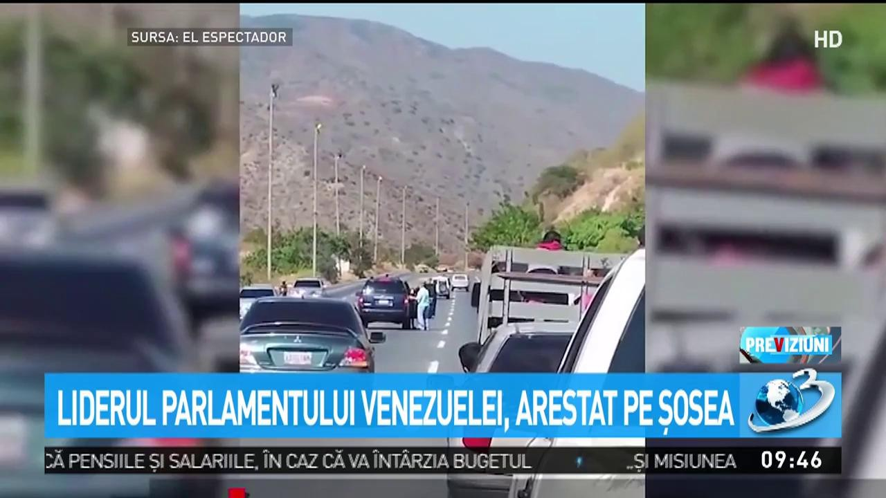Liderul Parlamentului Venezuelei, arestat pe șosea