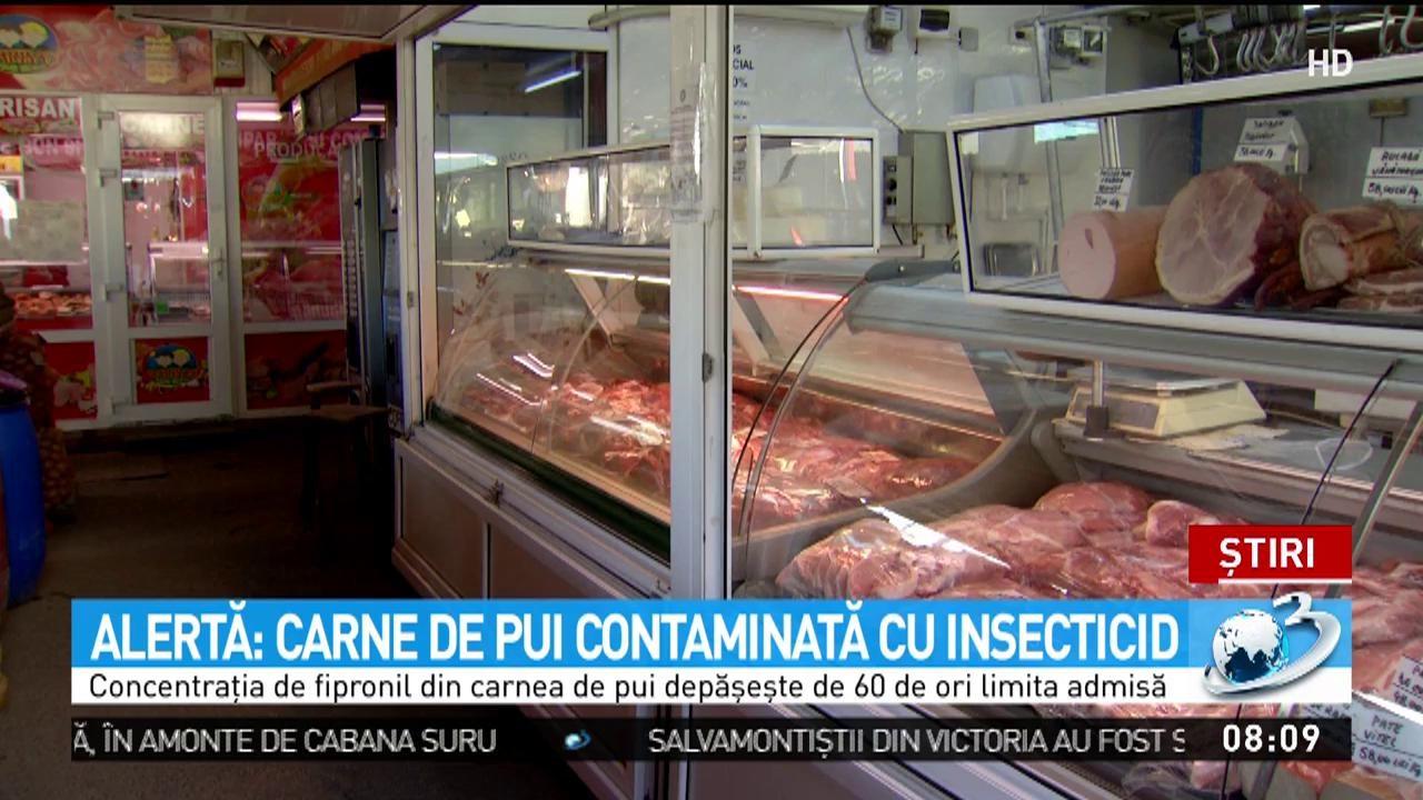 Alertă! Carne de pui contaminată cu insecticid