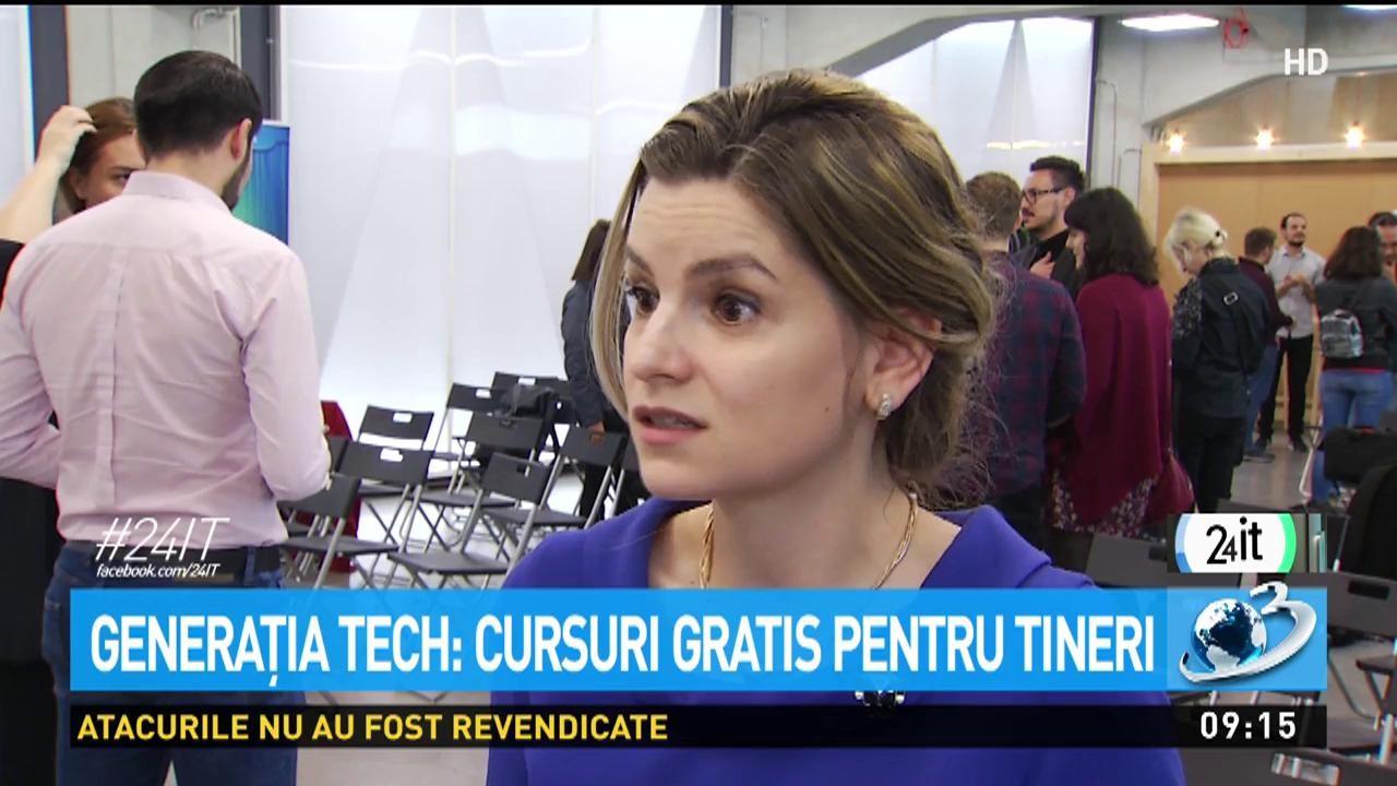 24 IT. Generația Tech: cursuri gratis pentru tineri