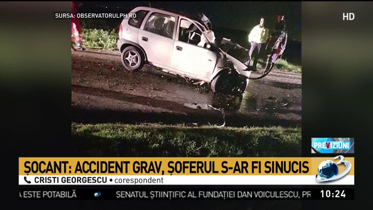 Accident cumpli. Tânărul șofer s-ar fi sinucis. Mesajele devastatoare de adio pe care le-a lăsat