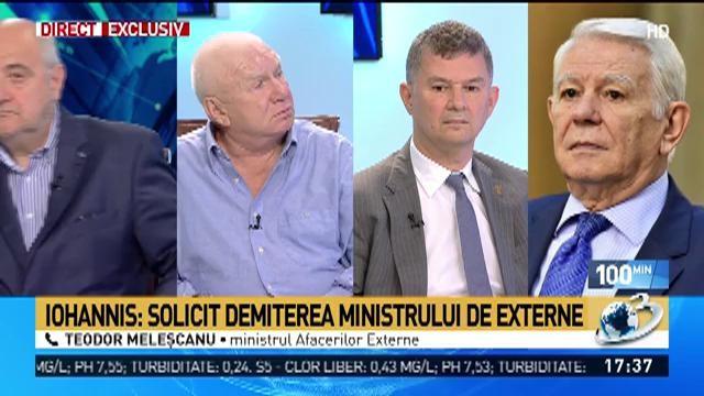 Meleșcanu, prima reacție după ce Iohannis i-a cerut demisia