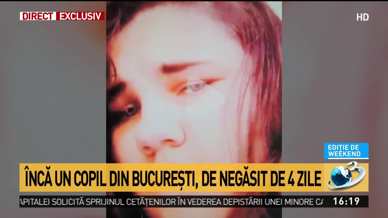 Minoră dispărută în Bucureşti
