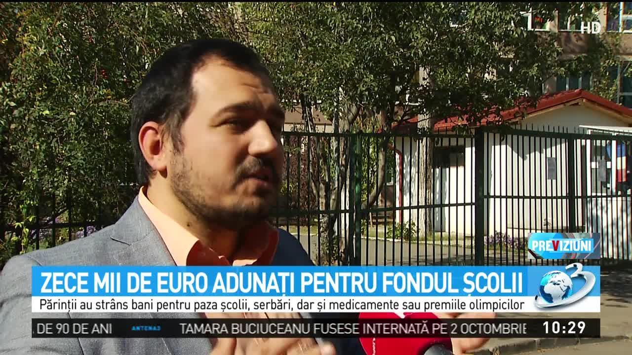 Zece mii de euro adunaţi pentru fondul şcolii