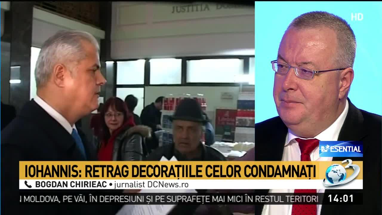 Bogdan Chirieac, după ce Iohannis a decis să îi retragă decorația lui Adrian Năstase: Nu are nevoie de acest ordin, pe el îl va decora cartea de istorie