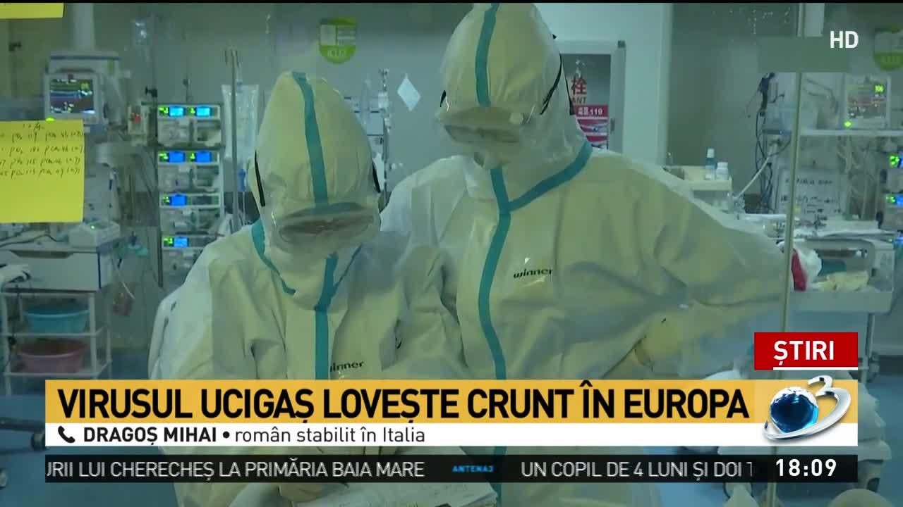 Român stabilit în Italia, despre situația dificilă provocată de coronavirus