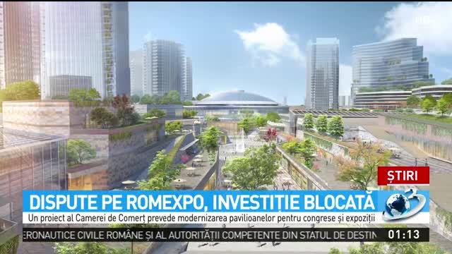 Dispute pe Romexpo, investiție blocată