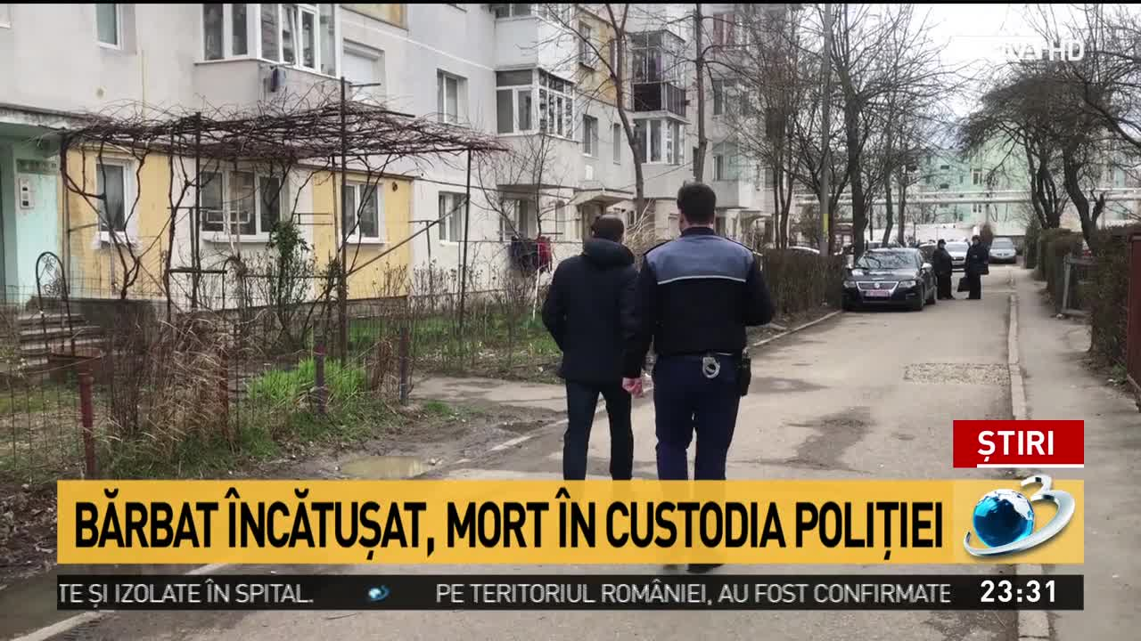 Bărbat încătușat, mort în custodia poliției din București