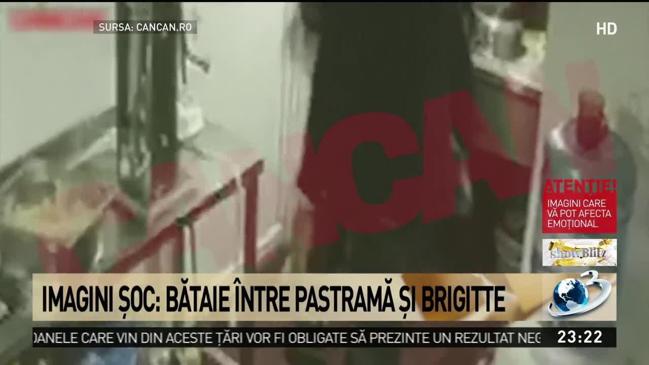 Imagini şoc: Bătaie între Pastramă şi Brigitte