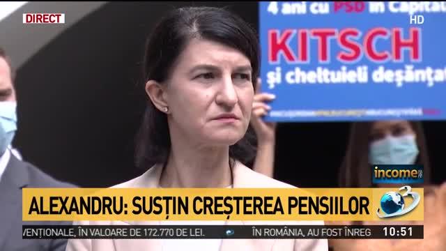 Anunț crucial pentru români. Ce se întâmplă cu pensiile. Violeta Alexandru: Susținem creșterea punctului de pensie!