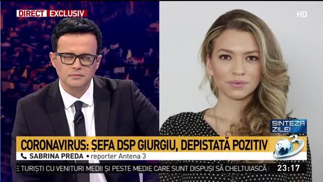 Şefa DSP Giurgiu, depistată pozitiv