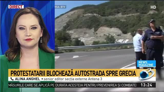 Protest de amploare în Bulgaria. Protestarii blochează autostrada spre Grecia