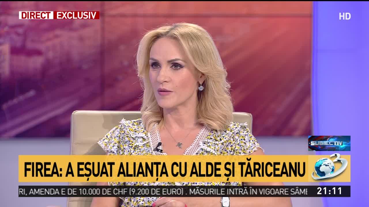 """Gabriela Firea, prima reacție referitoare la candidatura lui Tăriceanu la Primăria Capitalei: """"Nu voi face niciodată afirmații dezagreabile"""""""