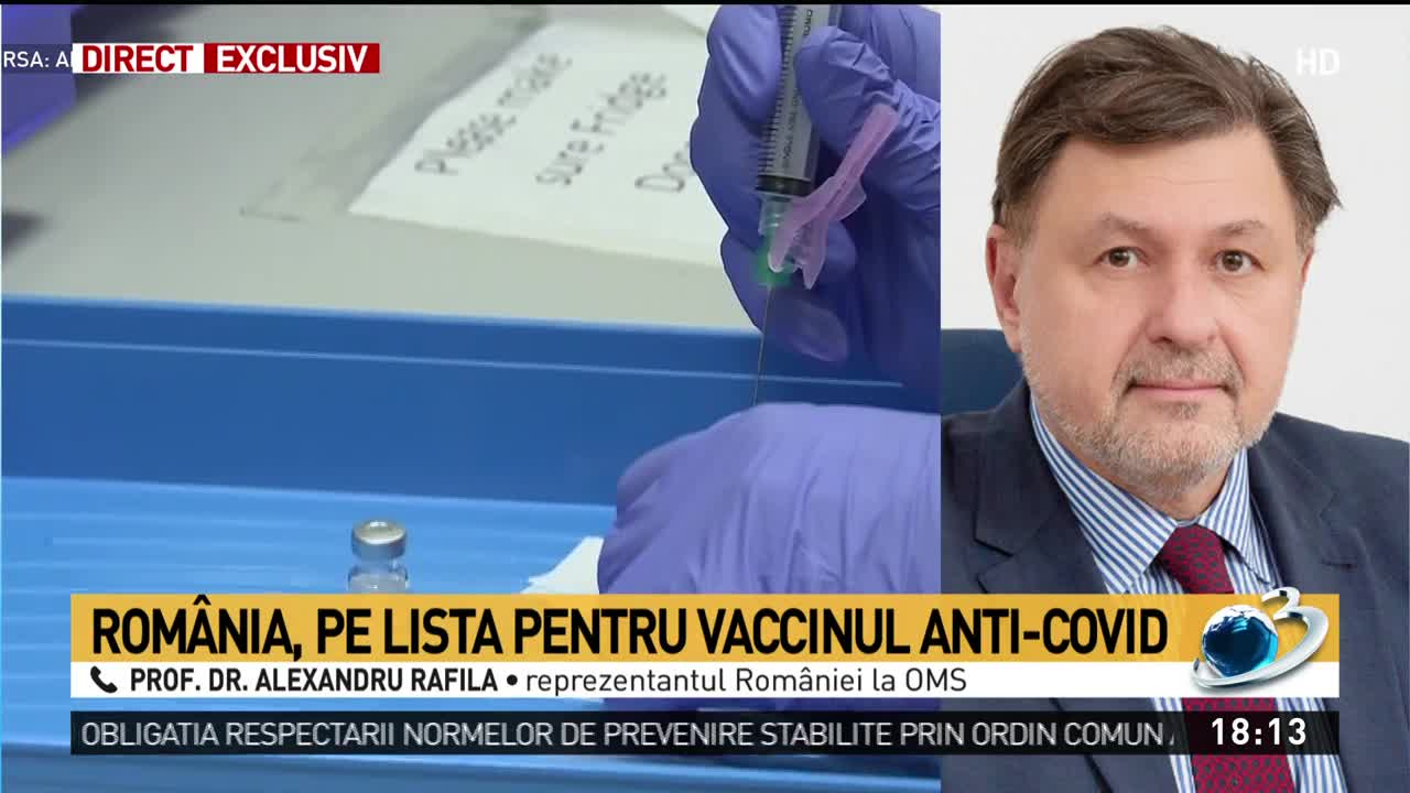 România, pe lista pentru vaccinul anti-COVID