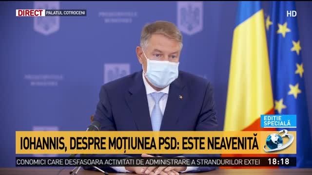 Iohannis desființează PSD și moțiunea de cenzură: Sunt ahtiați de putere şi suferă că nu mai sunt conectaţi la resursele bugetare