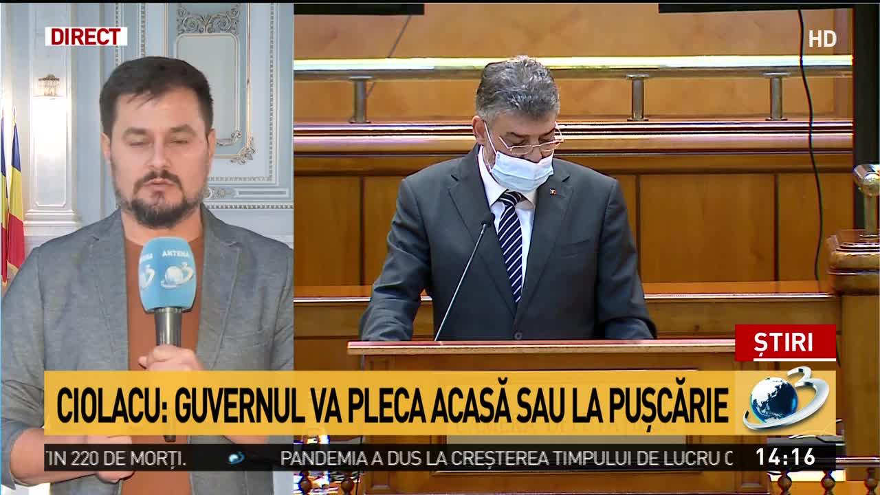 Ciolacu: Guvernul va pleca acasă sau la pușcărie