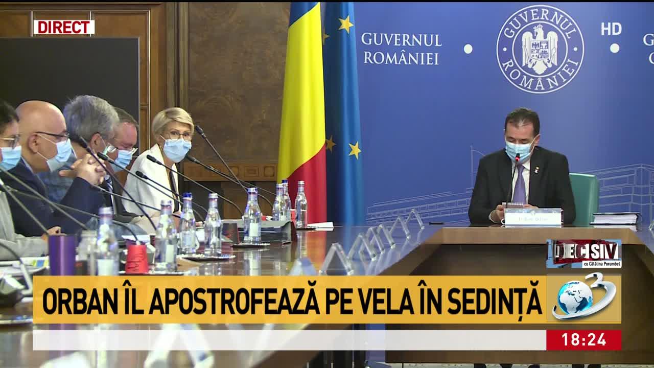 """Orban l-a apostrofat pe Vela în ședință pentru că """"este cu ochii"""" pe infractori. Schimb de replici acide"""