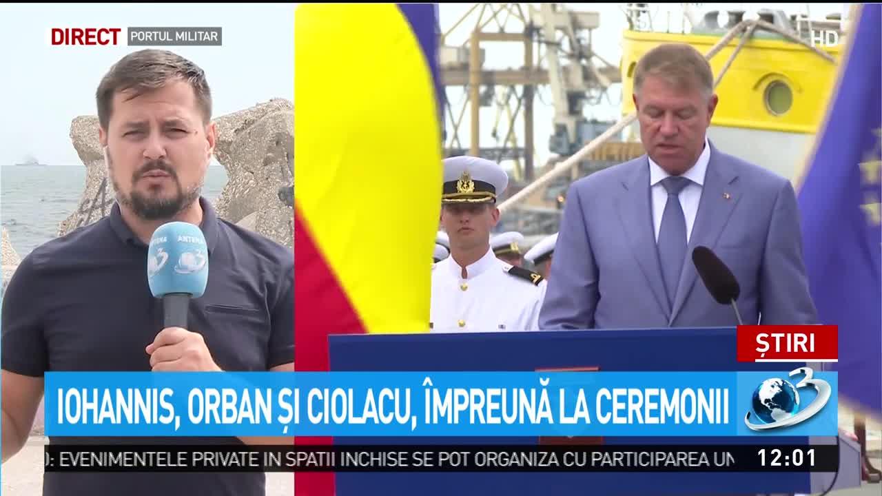 Iohannis, Orban și Ciolacu, împreună la ceremonii