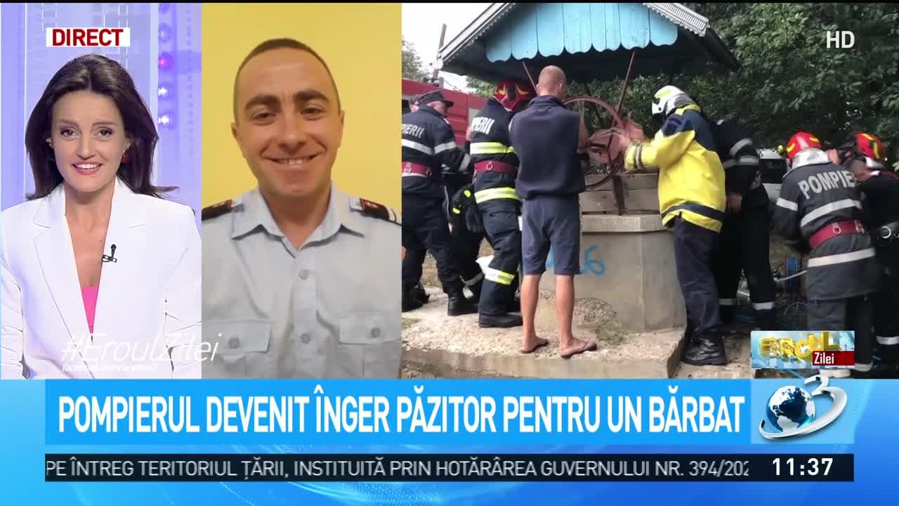 Daniel Savin, pompierul devenit înger păzitor pentru un bărbat