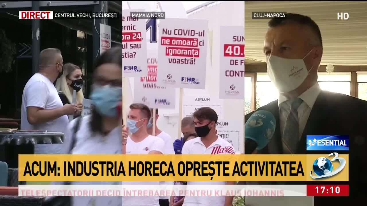Patronii din HORECA, protest față de interdicții