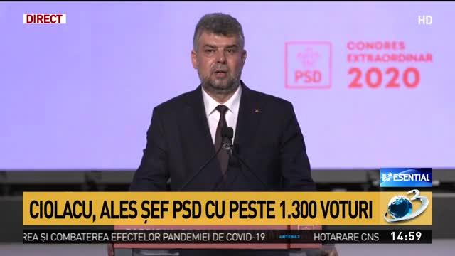 Marcel Ciolacu, ales șef PSD cu peste 1.300 de voturi